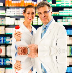 pharmacists inside the pharmacy