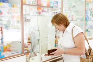 woman in the pharmacy counter