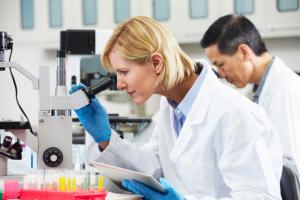 chemists using laboratory equipments