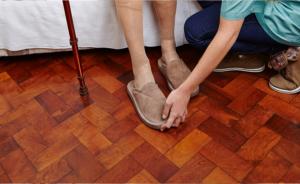 elderly woman's feet